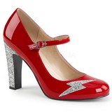 Red Patent 10 cm QUEEN-02 big size pumps shoes