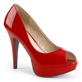 Red Patent 13,5 cm CHLOE-01 big size pumps shoes