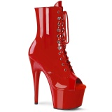 Red Patent 18 cm ADORE-1021 womens platform soled ankle boots