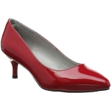 Red Patent 6,5 cm KITTEN-01 big size pumps shoes