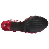 Red Patent 6 cm KITTEN-06 big size sandals womens