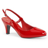 Red Patent 7,5 cm DIVINE-418 big size pumps shoes