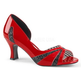 Red Patent 7,5 cm JENNA-03 big size pumps shoes