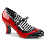 Red Patent 7,5 cm JENNA-06 big size pumps shoes