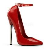 Red Shiny 16 cm DAGGER-12 Fetish Pumps Women Shoes
