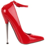 Red Varnished 16 cm DAGGER-12 Women Pumps Shoes Stiletto Heels