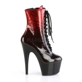 Red glitter 18 cm ADORE-1020OMB Pole dancing ankle boots