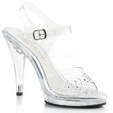 Rhinestones 11,5 cm FLAIR-408SD high heeled sandals