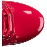 Rød Lakk 15,5 cm DELIGHT-1020 platå ankel høye støvler