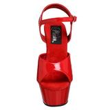 Rød Lakk 15 cm Pleaser KISS-209 platå høye hæler sko