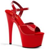 Rød Lakk 18 cm ADORE-709 platå høye hæler sko