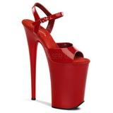 Rød Lakk 23 cm INFINITY-909 platå høye hæler sko