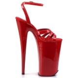 Rød Lakk 25,5 cm Pleaser BEYOND-012 platå høye hæler sko