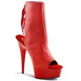 Rød Matt 16 cm DELIGHT-1018 platå ankel høye støvler