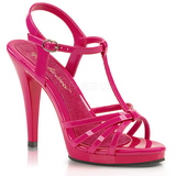 Rosa lakkert 12 cm FLAIR-420 high heels sko til menn