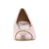 Rose 4 cm retro vintage LULU-05 Pinup Pumps Shoes with Low Heels
