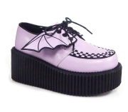 Rose 7,5 cm CREEPER-205 platform creepers women - rockabilly shoes with bat wings
