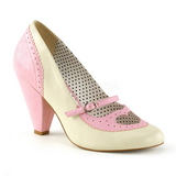Rose 9,5 cm POPPY-18 Pinup Pumps Shoes with Low Heels