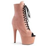 Rose faux suede 18 cm ADORE-1021FS Pole dancing ankle boots