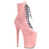 Rose faux suede 20 cm FLAMINGO-1020FS Pole dancing ankle boots