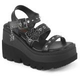 Silver 11,5 cm CELESTE-09 glitter platform sandals with block heels