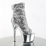 Silver 18 cm ADORE-1008SQ womens sequins ankle boots
