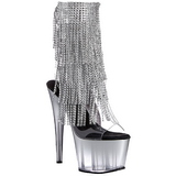 Silver 18 cm ADORE-1017RSFT womens fringe ankle boots high heels