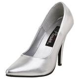 Silver Matte 13 cm SEDUCE-420 Pumps High Heels for Men