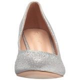Silver Rhinestone 6,5 cm DORIS-06 High Heeled Evening Pumps Shoes