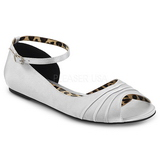Silver Satin ANNA-03 big size ballerinas shoes