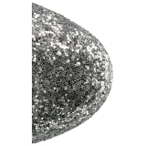 Silver glitter 18 cm ADORE-1020G womens platform soled ankle boots