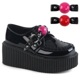 Suede 5 cm CREEPER-222 platform creepers shoes women