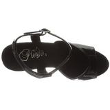 Svart 15 cm Pleaser KISS-209LS høye hæler damer sko