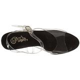 Svart 18 cm Pleaser ADORE-708LS høye hæler damer sko