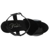Svart 18 cm Pleaser ADORE-709LS høye hæler damer sko