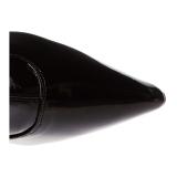 Svart 9,5 cm LUST-3000X overknee støvler brede lægge