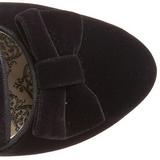 Svart Fløyel 6,5 cm BORDELLO WHIMSEY-115 ankel høye støvler