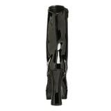 Svart Lakk 13 cm Pleaser ELECTRA-1020 platå ankel høye støvler