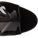 Svart Lakk 16,5 cm Pleaser ILLUSION-1018 platå ankel høye støvler