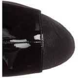 Svart Lakk 18 cm Pleaser ADORE-1018 platå ankel høye støvler
