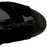 Svart Lakk 20 cm Pleaser FLAMINGO-1018 platå ankel høye støvler