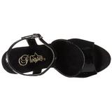 Svart Lakk 23 cm INFINITY-909 platå høye hæler sko