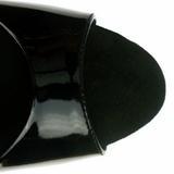 Svart Lakk 23 cm Pleaser INFINITY-912SP platå høye hæler sko
