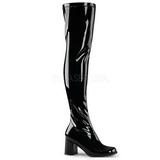 Svart Lakk 8 cm GOGO-3000 overknee støvletter til dame