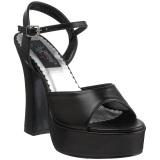 Svart Matt 13 cm DEMONIA DOLLY-09 platå høye hæler sko