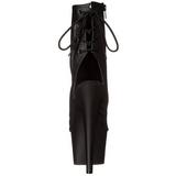 Svart Matt 18 cm Pleaser ADORE-1018 platå ankel høye støvler