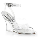 Transparent 10,5 cm LOVELY-406 Women Wedge Sandals