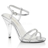 Transparent 10 cm CARESS-416 High Heeled Evening Sandals