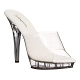Transparent 13 cm Fabulicious LIP-101 Mules High Heels Platform