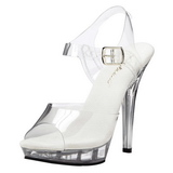 Transparent 13 cm LIP-108 Platform High Heels Shoes